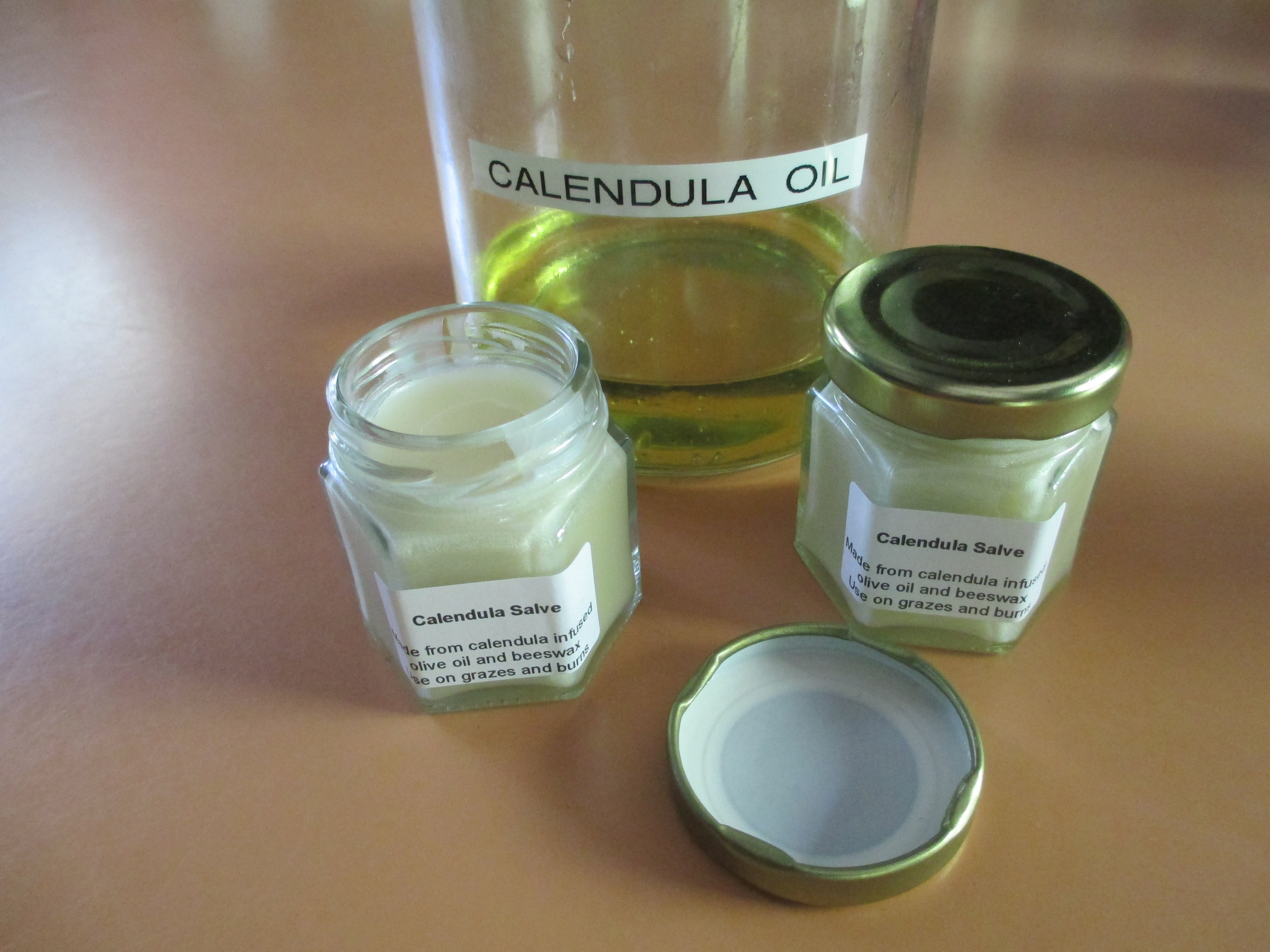 Calendula infused oil and salve
