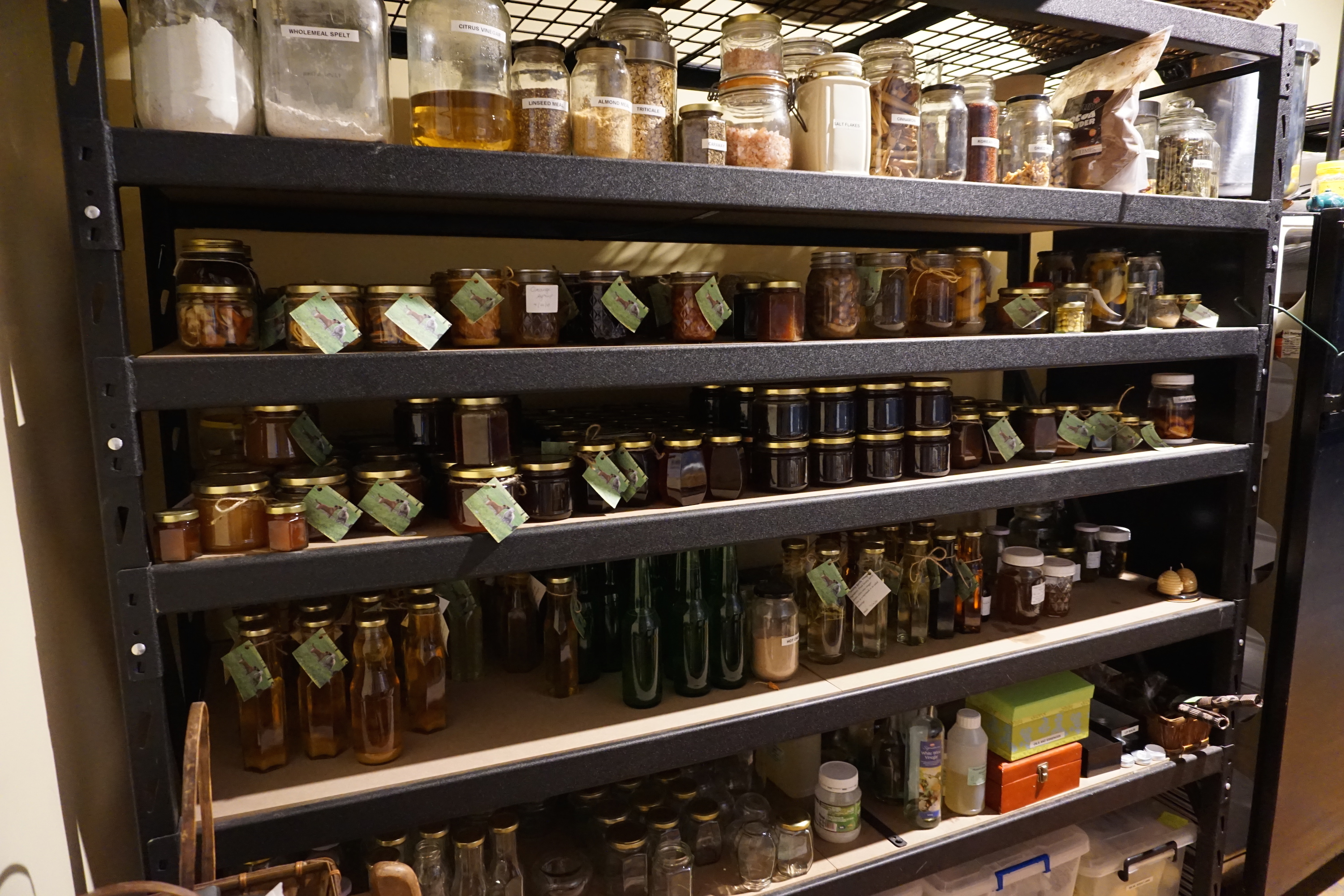 Produce room full of honey