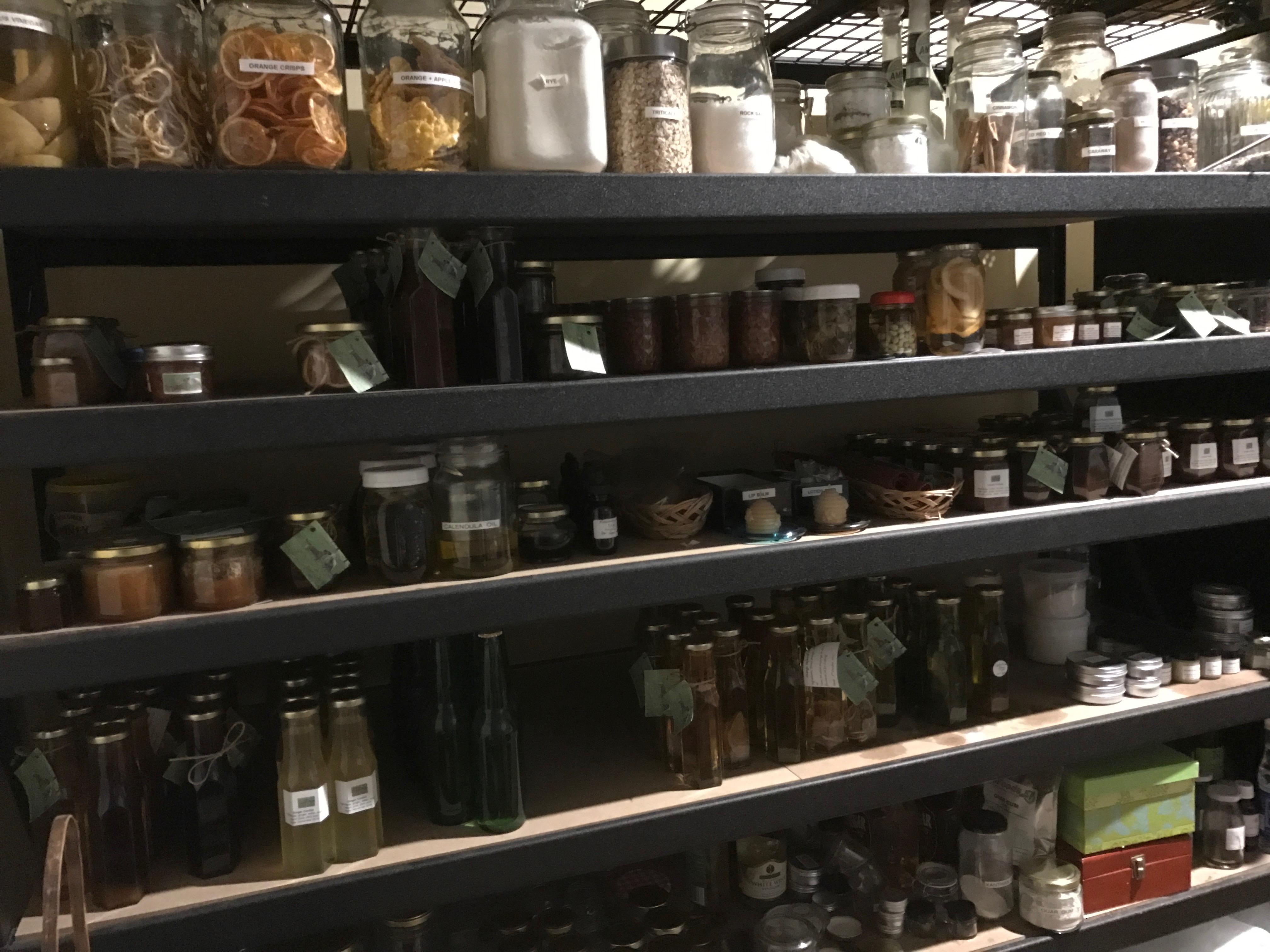 Full shelves
